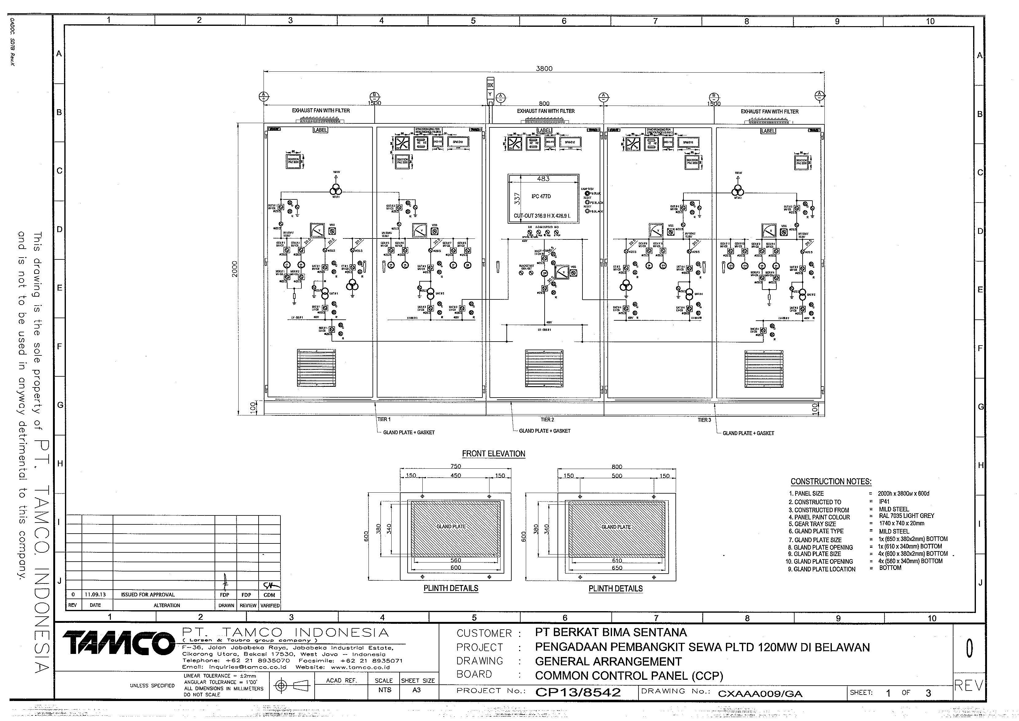 Wrg 9599 Power Plant General Layout