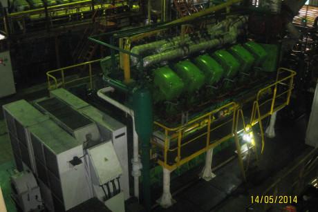 Engine Sulzer 12ZV40/48 Siantan Power Plant